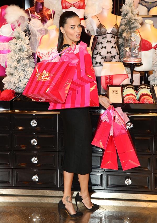 Adriana Lima celebrates Victoria's Secret UK