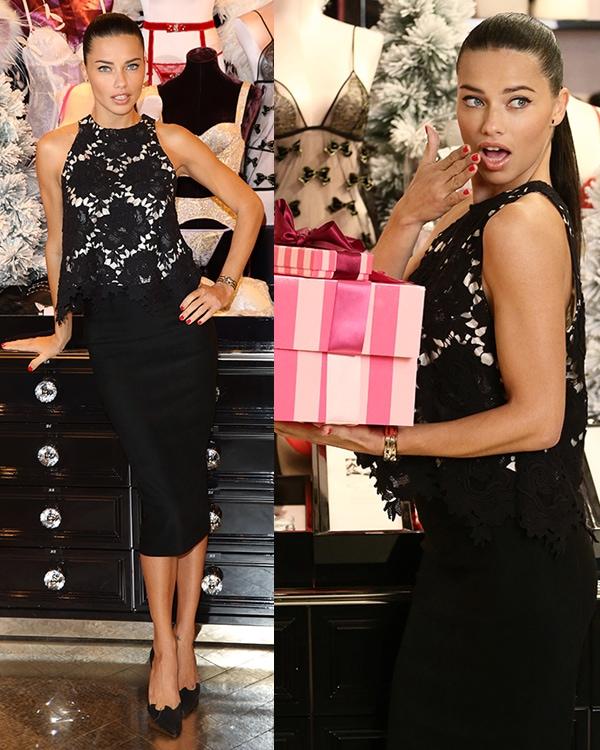 Adriana Lima celebrates Victorias Secret UK1