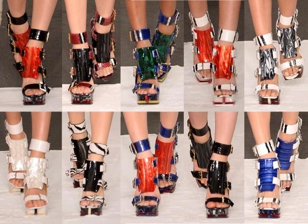 Alexander McQueen Spring 2014 Sandals