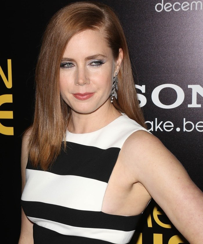 "Amy Adams wears a David Koma dress to the premiere of ""American Hustle"""