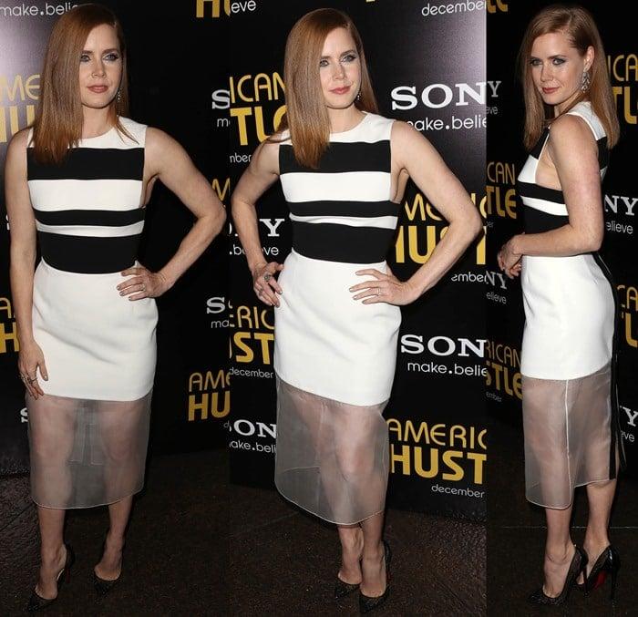 "Amy Adams wears a David Koma dress at the premiere of ""American Hustle"""