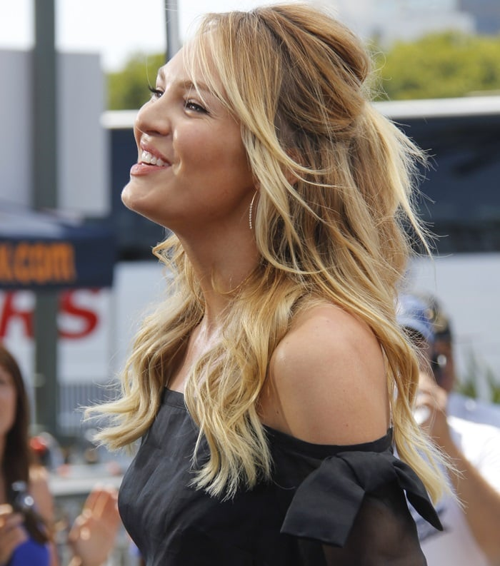 Candice Swanepoel makes an appearance on Extra at Universal CityWalk in Universal City, California, on June 9, 2014
