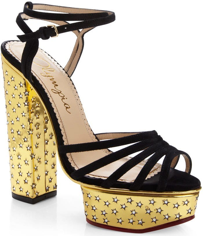 Let Charlotte Olympia's Rising star sandals complete your evening look with a definitive wow-factor