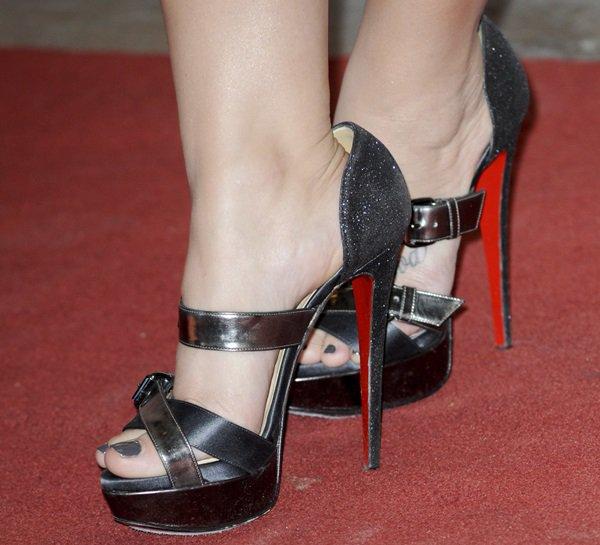 "Demi Lovato's Christian Louboutin ""Ambertina"" sandals"