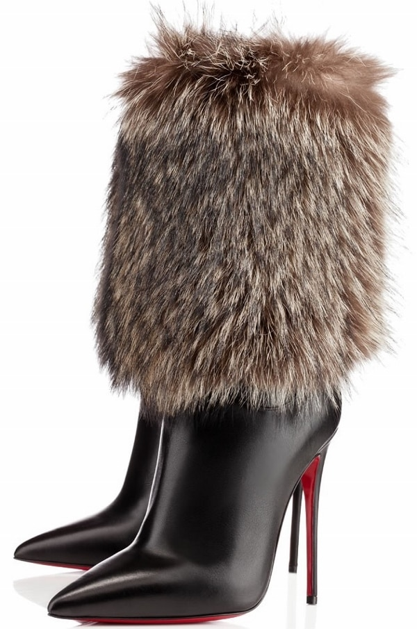 """Christian Louboutin """"Canichissima"""" Fur Boots"""