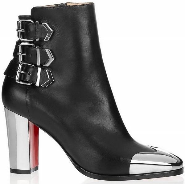 "Christian Louboutin ""Chelita"" Metal Leather Boots"