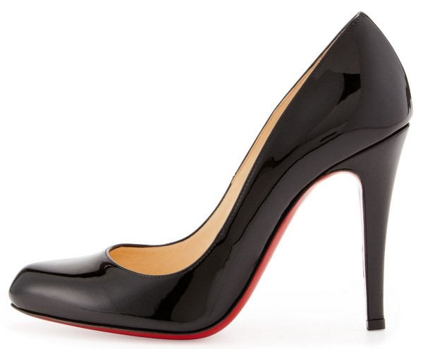 Christian Louboutin Decollette Patent Red Sole Pump