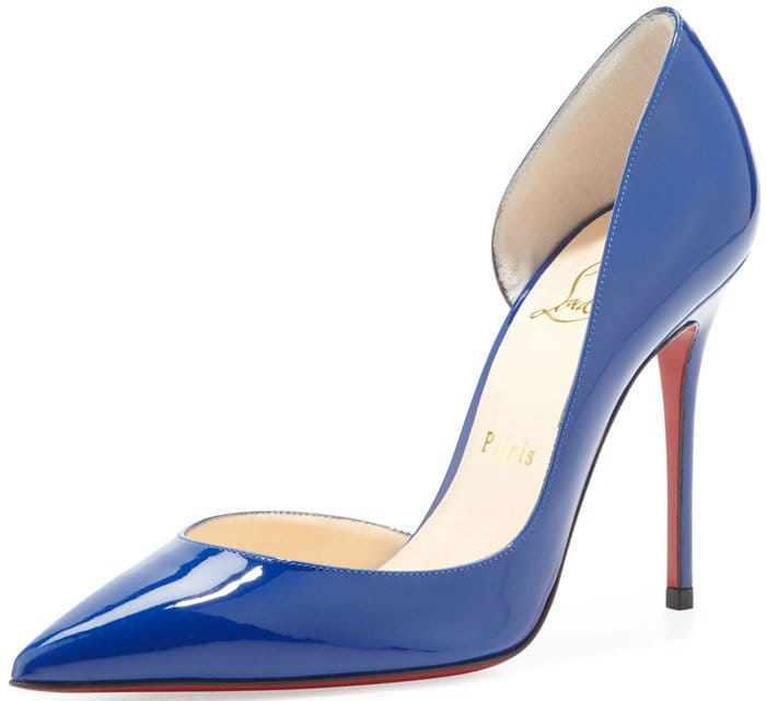 "Christian Louboutin ""Iriza"" d'Orsay Pumps in Neptune Blue"