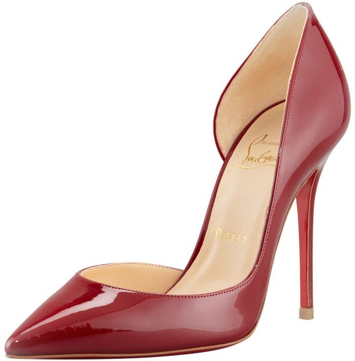 Christian Louboutin Iriza Pointed-Toe d'Orsay Red Sole Pump in Rouge
