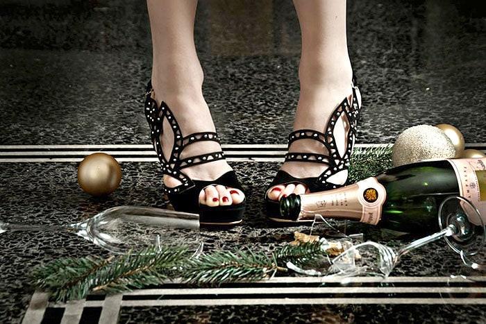 """De Siena """"Swan"""" Sandals"""
