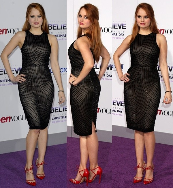 """Actress Debby Ryan arrives at the Premiere Of Open Road Films' """"Justin Bieber's Believe"""""""