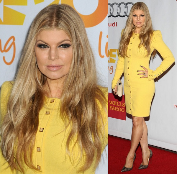 Fergie in Christian Louboutin So Kate Pumps