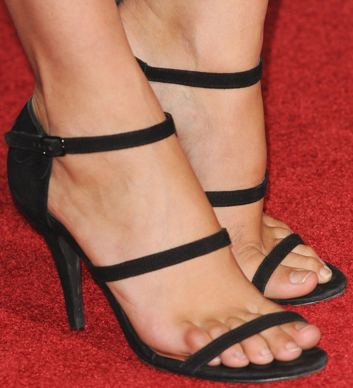 Gal Gadot's feet in strappy sandals