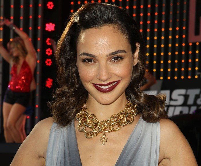 """Gal Gadot attends the premiere of """"Fast & Furious 6"""" at the Gibson Amphitheatre"""