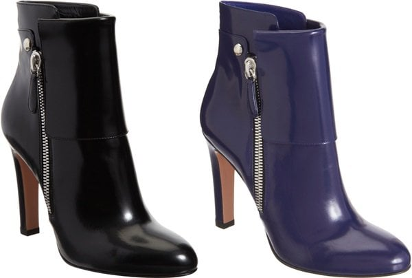 Gianvito Rossi Patent Cuffed Ankle Boot