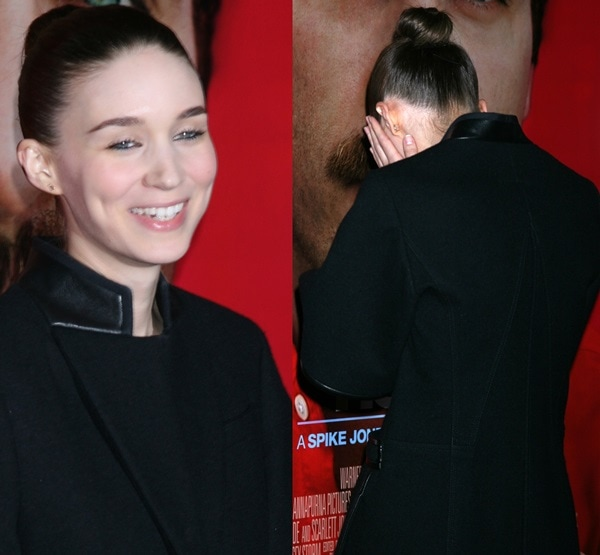 Actress Rooney Mara attends the premiere of Warner Bros. Pictures 'Her' at DGA Theater on December 12, 2013 in Los Angeles, California