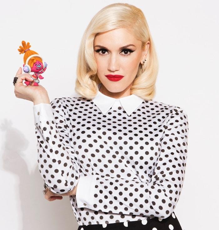 Gwen Stefani has just one line as DJ Suki in Trolls