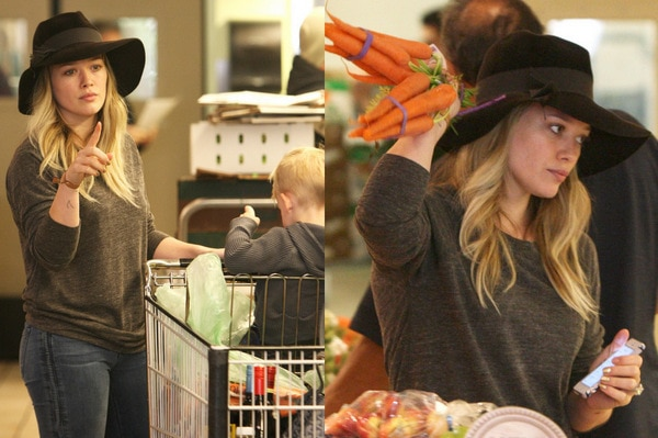 Hilary Duff shopping at Whole Foods Market in Beverly Hills, California, on December 6, 2013