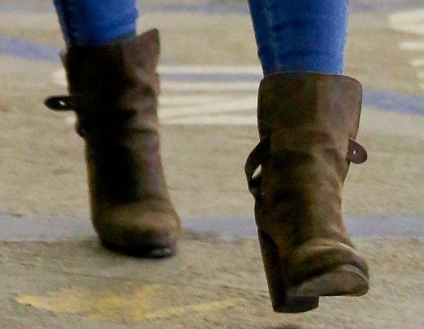 Hilary Duff wearing chic Rag & Bone booties