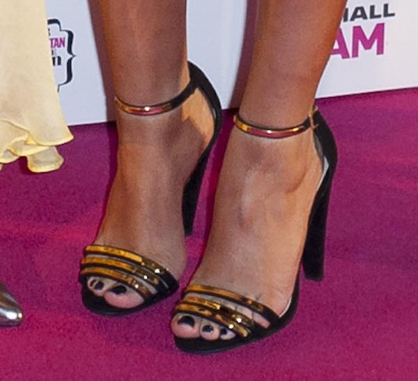 Jade Thirlwall showing off her feet in Carvela Kurt Geiger 'Cara' sandals