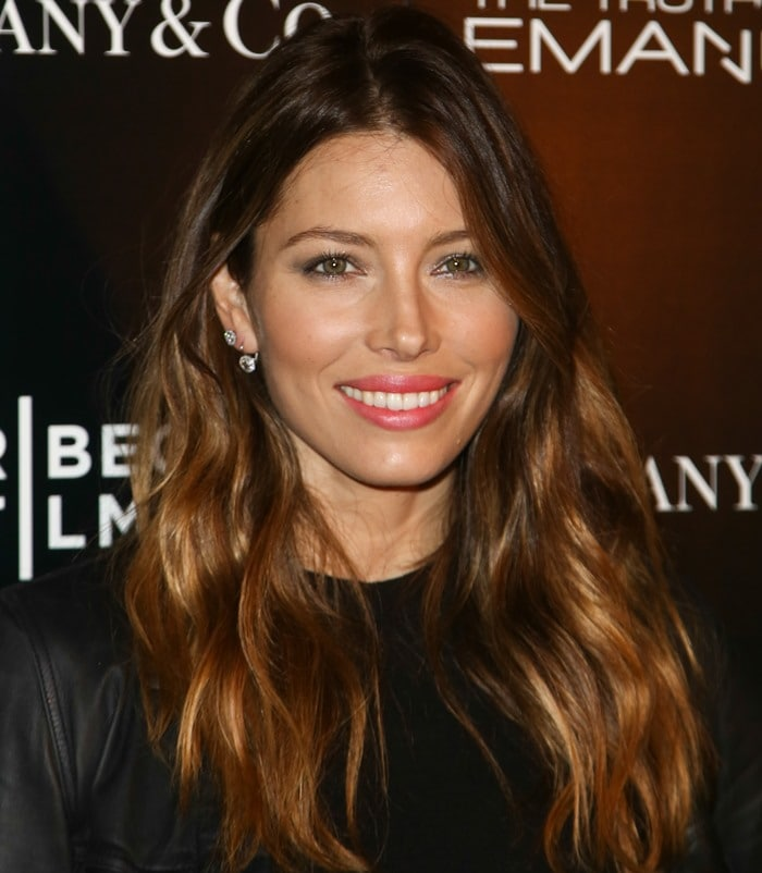 """Jessica Biel wears her hair down at the premiere of her new movie """"The Truth About Emanuel"""""""