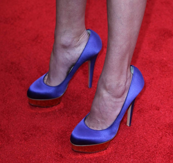 "Julia Roberts wearing Charlotte Olympia ""Dolly"" pumps"