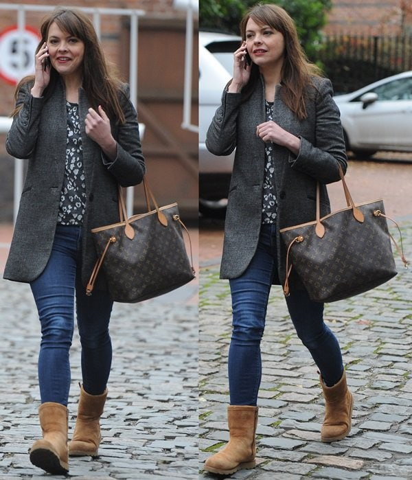 Kate Ford at Granada studios in Manchester, England, on December 3, 2013