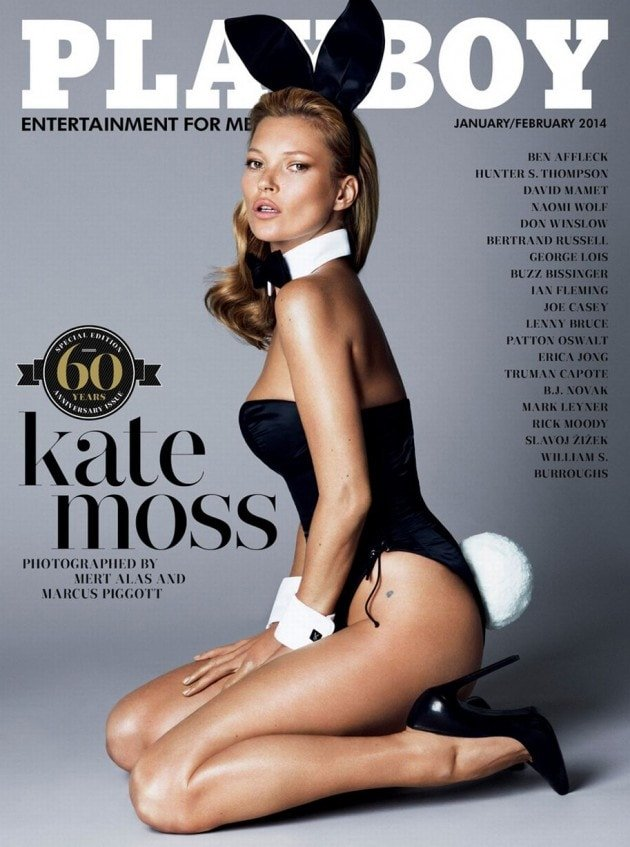 Kate Moss dressed up as a bunny for the special issue that celebrates the magazine's 60th anniversary