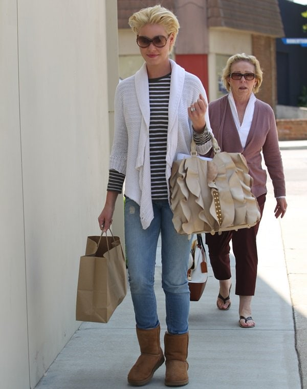 Katherine Heigl and her mother out and about in West Hollywood on May 20, 2011