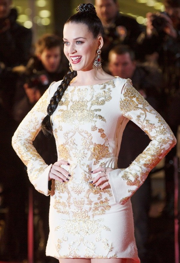 Katy Perry lit up the red carpet at the 15th NRJ Music Awards