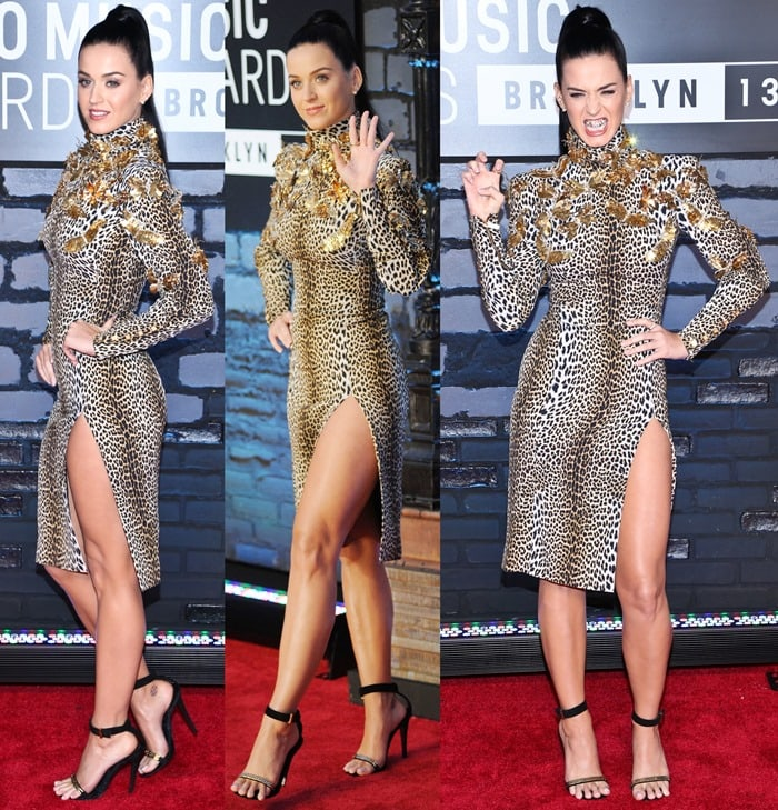 Katy Perry flaunts her legs at the 2013 MTV Video Music Awards