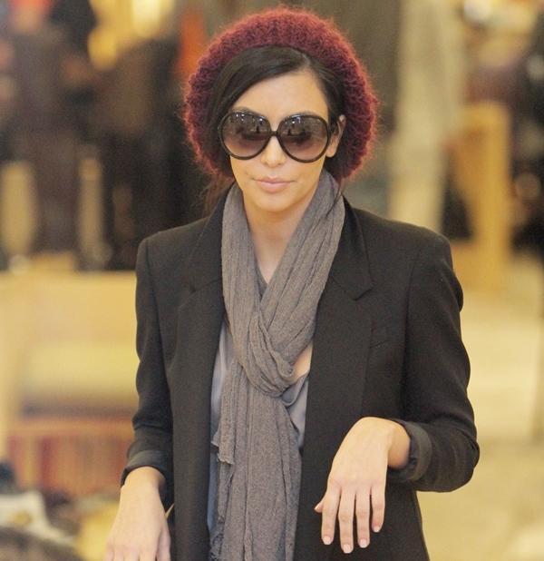 Kim Kardashian goes Christmas shopping at Barneys New York in Beverly Hills on December 13, 2014