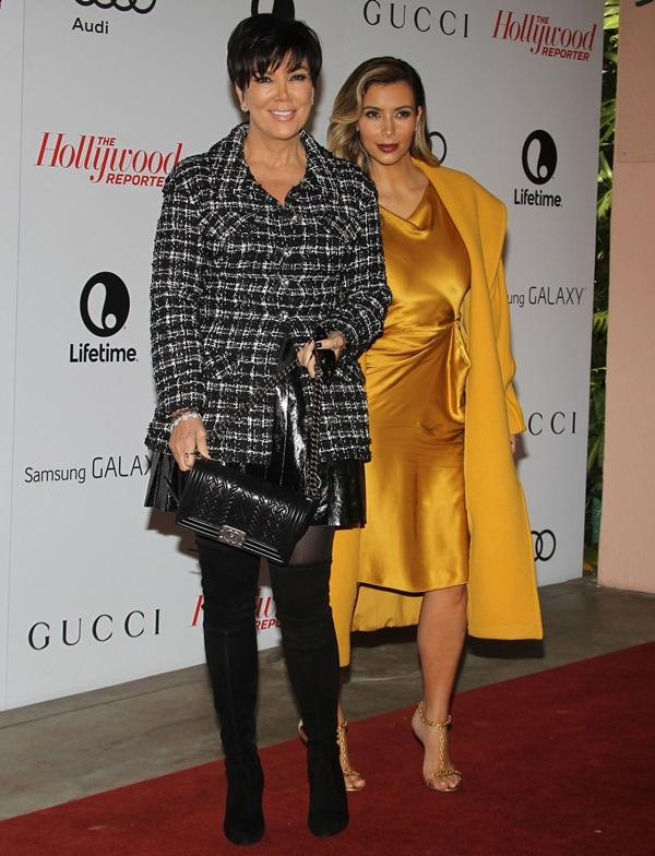 Kris Jenner and Kim arrive at The Hollywood Reporter's Women in Entertainment breakfast
