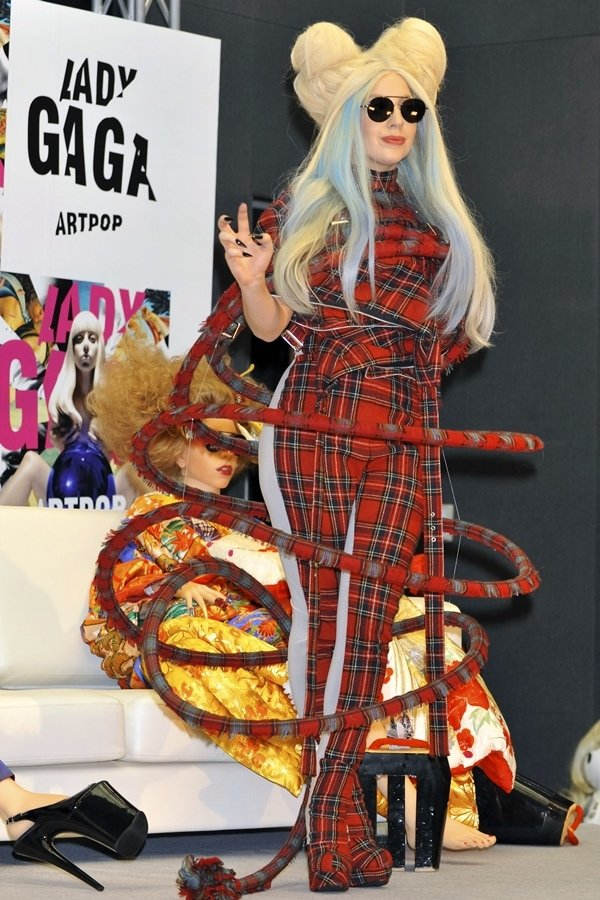 Lady Gaga attends a press conference