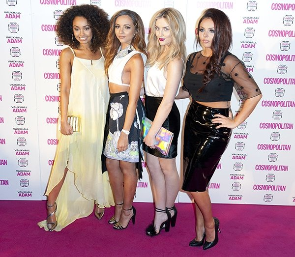 Little Mix at the 2013 Cosmopolitan Ultimate Women of the Year Awards held at the Victoria and Albert Museum in London on December 5, 2013