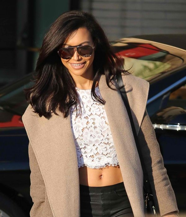 Naya Rivera leaving Barney's New York in Beverly Hills after a Christmas shopping spree in California on December 22, 2013