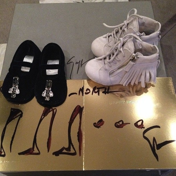 Giuseppe Zanotti created not one but two pairs of shoes just for North