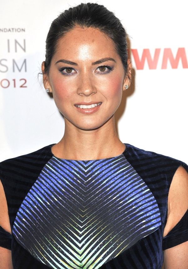 Olivia Munn at the International Women's Media Foundation hosting the 2012 Courage in Journalism Awards in Los Angeles on October 29, 2013