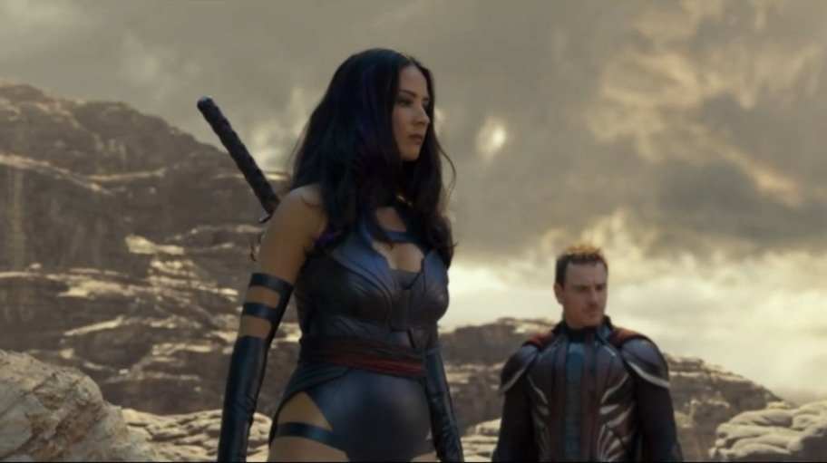Olivia Munn needed help from two assistants to get into her purple Psylocke costume