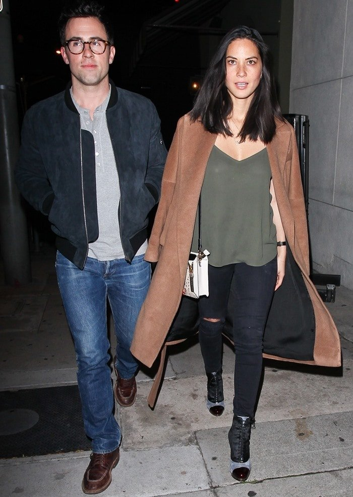 Olivia Munn and a male friend step out for dinner together in Los Angeles