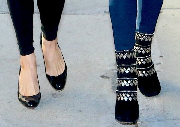 Paris Hilton and Nicky Hilton in Christian Louboutin and Alaia