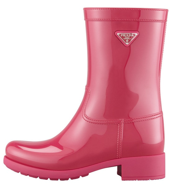 Prada Glossy Pull-On Rain Boot