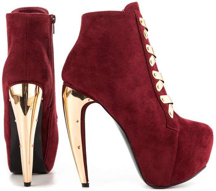 Privileged 'Surrender' Boots in Red