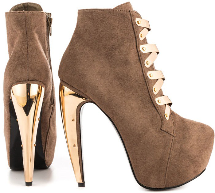 Privileged 'Surrender' Boots in Taupe