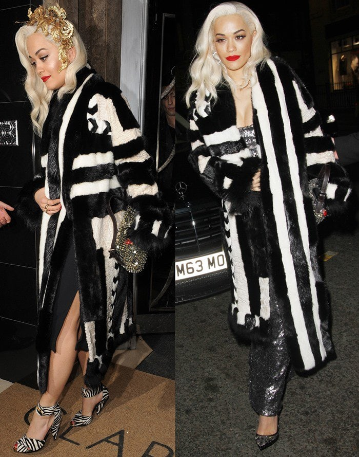 Singer Rita Ora attends Playboy's 60th-anniversary issue party hosted by Marc Jacobs and Kate Moss at The Playboy Club