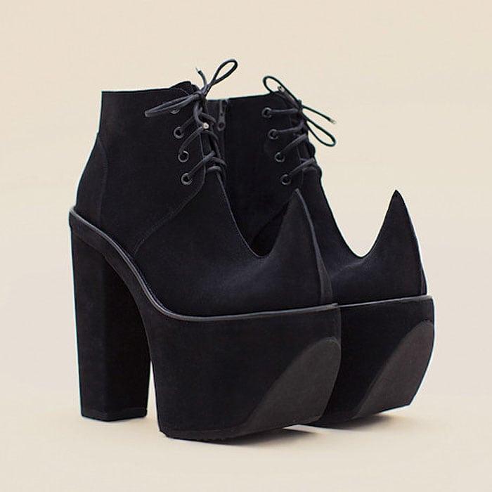Robert Wun Number 7 Black Platform Boots