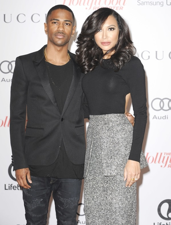 Sean Michael Anderson and Naya Rivera at The Hollywood Reporter's Women in Entertainment Breakfast in Los Angeles on December 11, 2013
