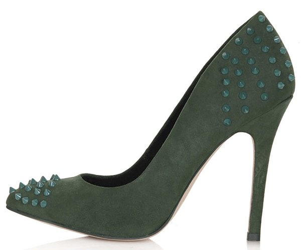 Topshop Grizzly Studded Courts Green