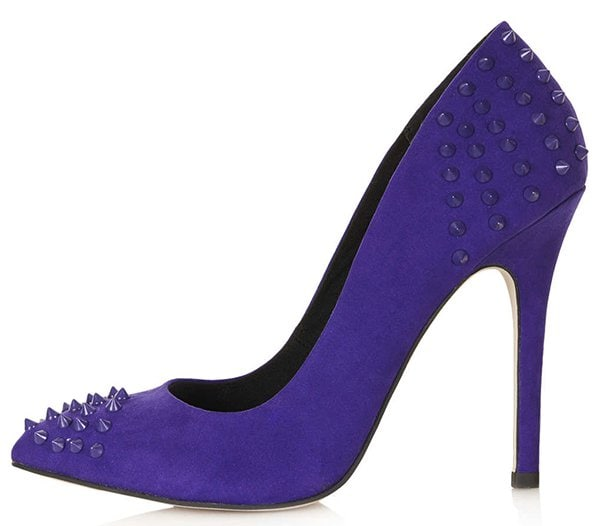Topshop Grizzly Studded Courts Purple