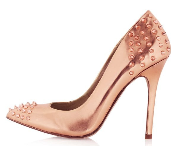 Topshop Grizzly Studded Courts Rose